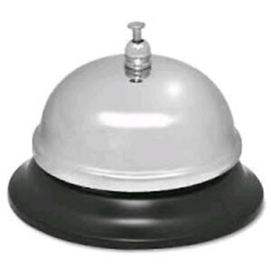 Sparco-Call-Bell-Nickel-Plated-ChromedSteel-Silver-Black-Color-1583