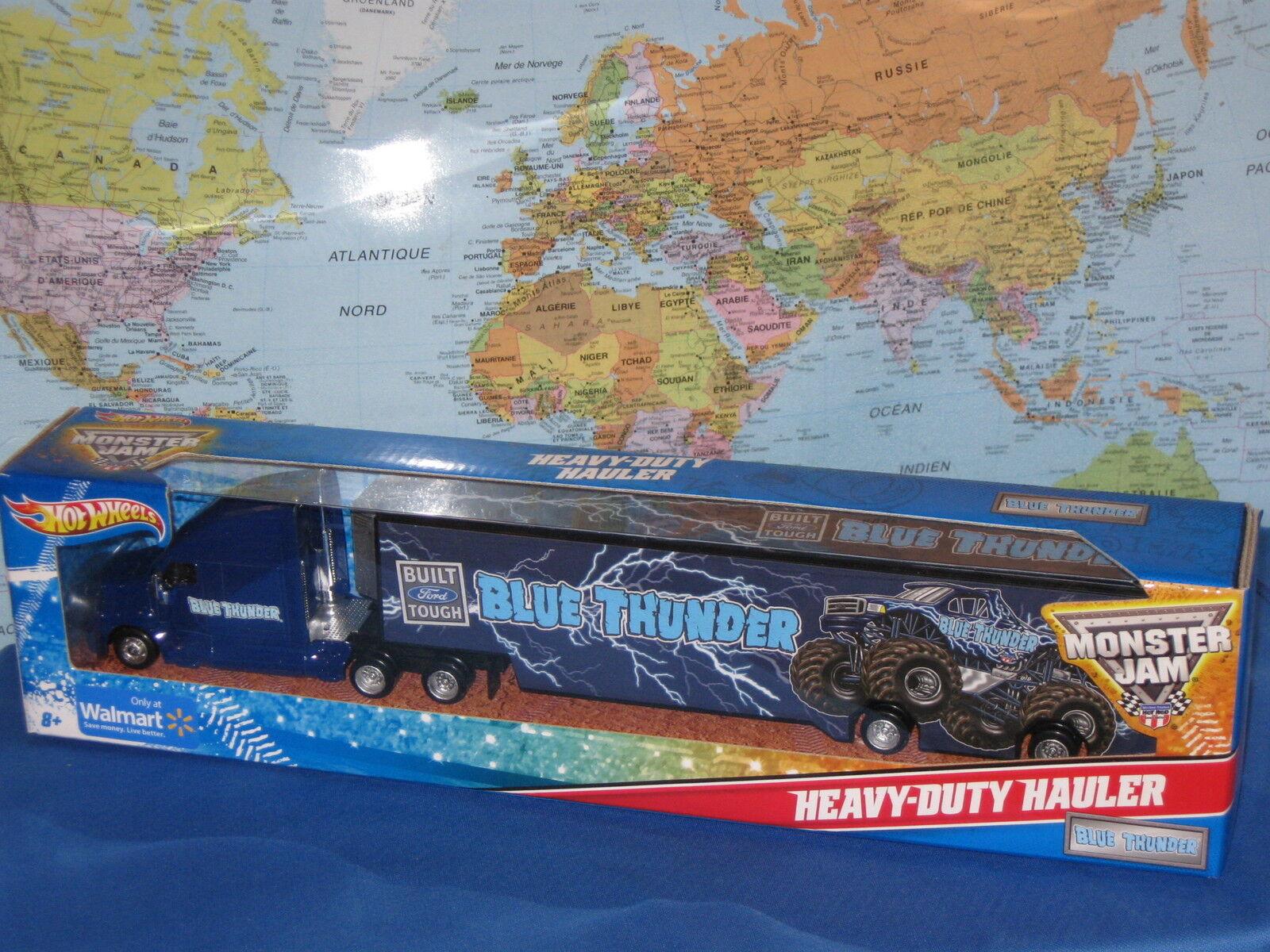 Hot Wheels Résistant Camion Bleu Thunder 35.6cm (35 cm) cm) cm) Tout Nouveau & 04f150
