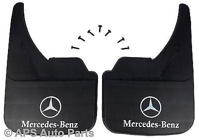 Universal Car ANTIBECCHEGGIO anteriore posteriore MERCEDES CLASSE E Logo Anteriore Fango Flap Guard