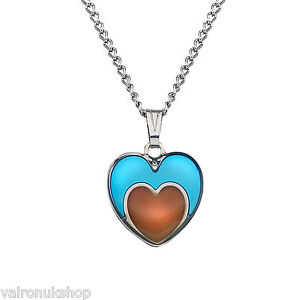 Heart in Heart Shape Mood Colour Changing Necklace