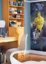 Star Wars. R2D2 C3PO Super Grande De Pared Trasera Vinilo Calcomanía