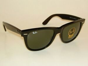 5f1207f2ef3 New RAY BAN Original WAYFARER Sunglasses RB 2140 901 Black Frame ...