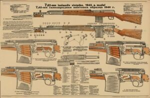 SVT-40-Tokarev-Rifle-Color-POSTER-Soviet-Russian-WW2-Sniper-INCREDIBLE-FInd