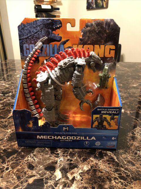 Godzilla vs Kong Mechagodzilla Battle Damage Reveal Playmates Toy Ready to Ship!