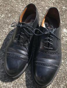 Men's Florsheim Imperial Oxfords Dress Shoe Size 8.5 D Black Leather Cap Toe USA