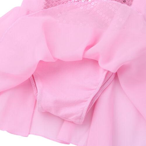 Girls Kids Princess Ballet Tutu Dress Dance Gymnastics Dancewear Fancy Costume