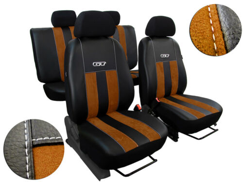 ALICANTE SEAT COVERS TAILORED* VOLKSWAGEN T6 5 SEATS 2015 ONWARDS   ECO LEATHER