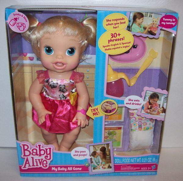 Hasbro Baby Alive Mi bebé Todo Gone Rubia Muñeca Interactivo listo para enviar  en Caja Original