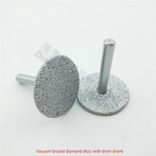 Vacuum Brazed Grinding Diamond Cutting Discs with Shank Engraving blades Dia35mm
