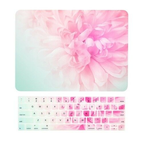 """Pink Peony Matte Case+Keyboard Cover for MacBook Pro 13/"""" Touch Bar A1989 A1706"""