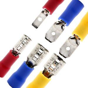 Flachstecker-Flachsteckhuelsen-Kabelschuh-Steckverbinder-rot-blau-2-8-4-8-6-3-mm