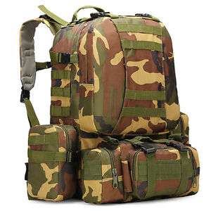 7013f5f0b7a3 Image is loading 75L-Outdoor-Large-Military-Tactical-Backpack-Detachable- Camping-