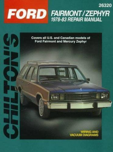total car care repair manuals ford fairmont and zephyr 1978 83 by rh ebay com 39 Zephyr 1943 Lincoln Zephyr Coupe