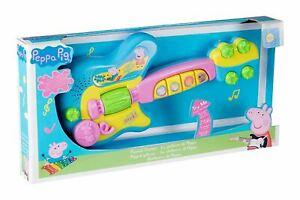 Peppa-Pig-Elektrische-Gitarre-Spielzeug-Elektronische-mit-Thema-Melodie-Neu