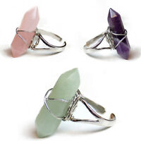 Women's Fashion Punk Adjustable Artificial Crystal Alloy Finger Ring Jewery
