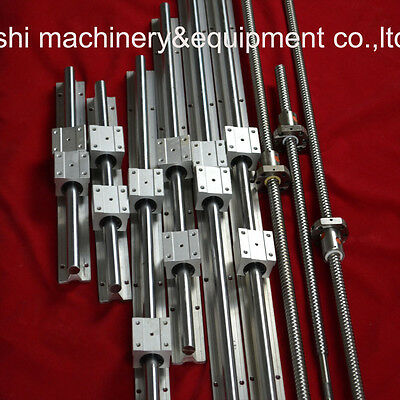 Support LINEAR RAIL 3 SETS SBR16-300/1350/1350mm+3 PCS BALLSCREWS RM1605 For CNC