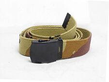 6 Color Desert Camo Pantalones cinturón-Us Army Estilo Choc Chip Camuflaje Correas
