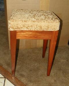 Walnut-Vanity-Bench-Entry-Bench-gold-print-chenille-BN55