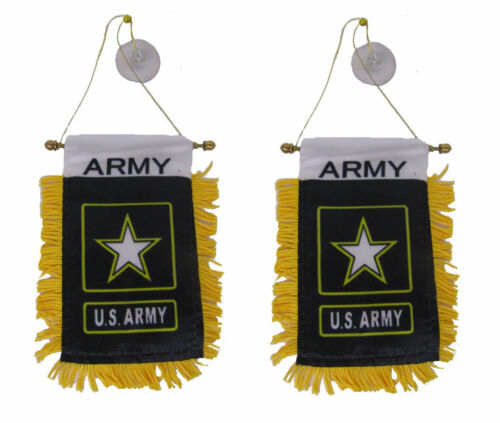 "Army Star Double Sided Mini Flag 4/""x6/"" Window Banner Wholesale Lot 3 U.S"