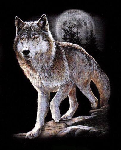 SWEAT SHIRT NOIR S  M  L  XL  XXL  XXXL  XXXXL LOUP ENFANT WOLF
