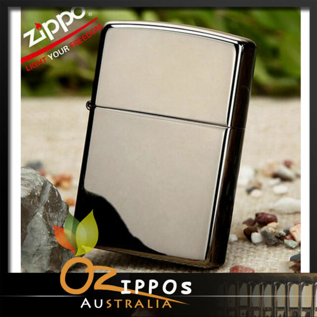 Zippo Lighter  Black Ice Chrome  Finish 150 --- Free Shipping in Australia