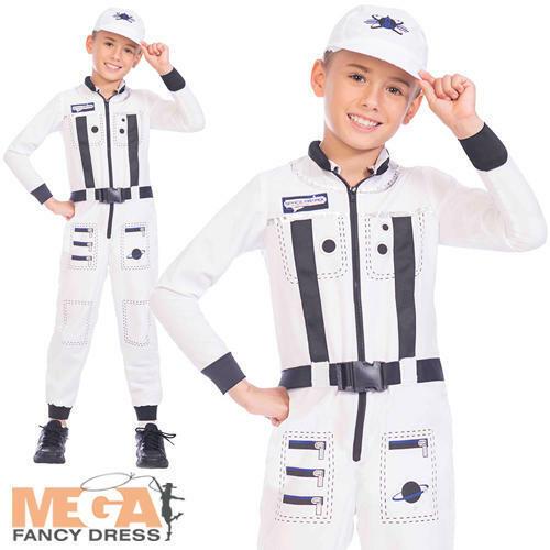 Astronaut Kids Fancy Dress Space Man Suit Uniform Boys Girls Costume Outfit