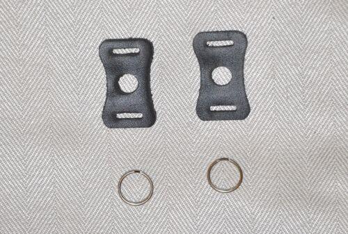 V 112 A ** negro//par Para DSLR//SLR 2 piezas de Split o anillo de metal y juego de cubierta de cuero