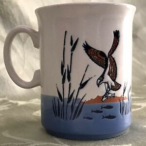 Image is loading English-Ironstone-Tableware-Mug-Osprey-Fish-Eagle-River- & Details about English Ironstone Tableware Mug Osprey Fish Eagle River Sea Hawk Bird Cup EIT