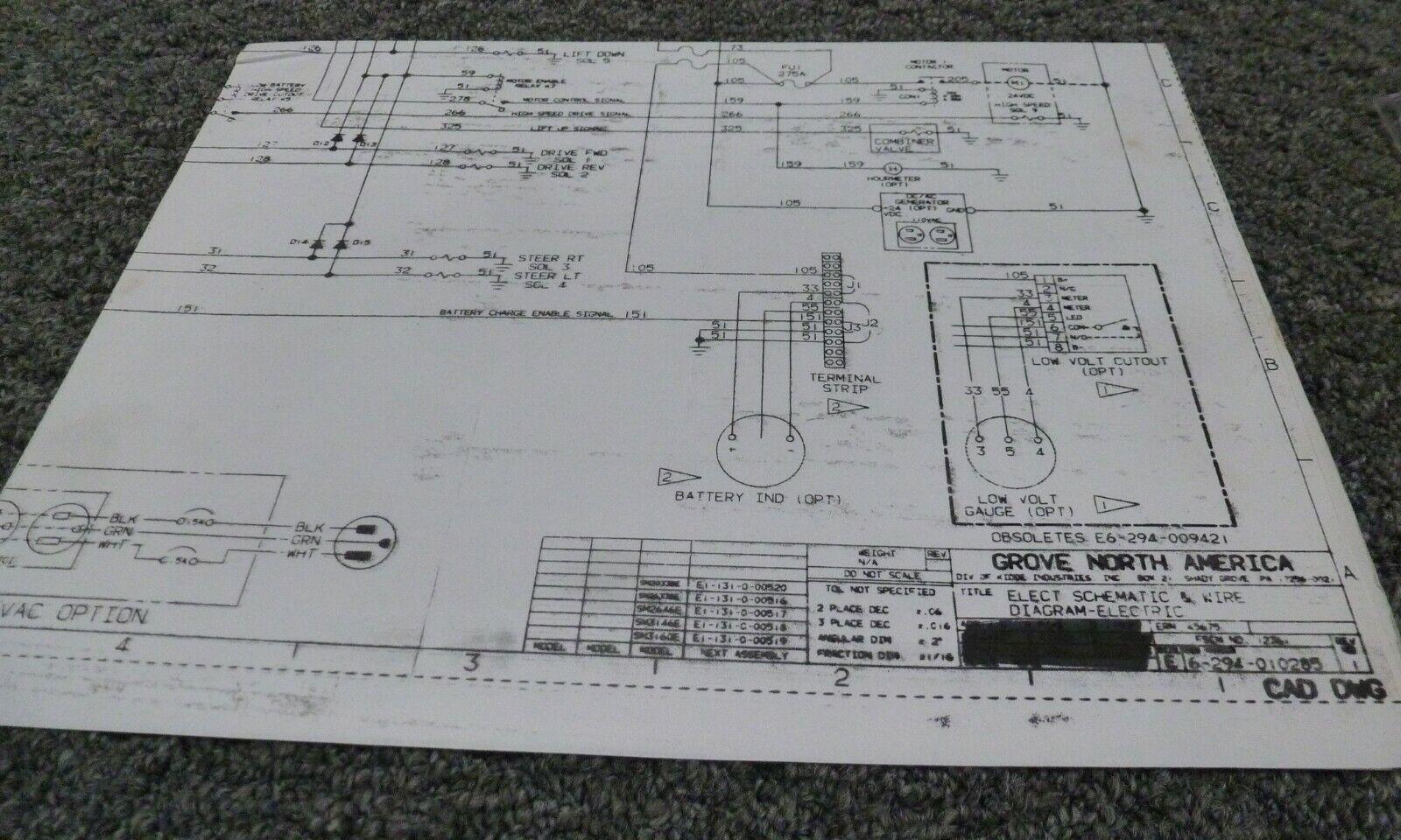 Grove SM40E SM40E Scissor Lift Electrical Wiring Diagrams Manual
