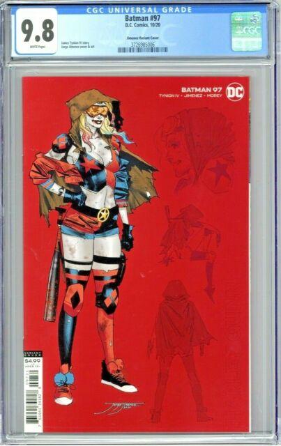 Batman #97 CGC 9.8 Jimenez Variant Cover 1:25 Harley Quinn Design Edition 2020