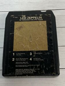 Led Zeppelin In Through The Out Door 8 Track Tape 1979 Atlantic Recording