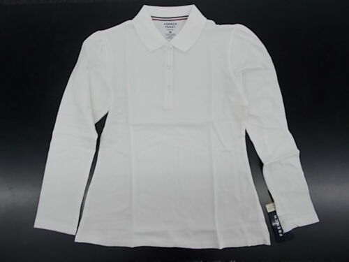 Girls French Toast Uniform//Casual White Long Sleeved Polo Shirt Size16-20.5