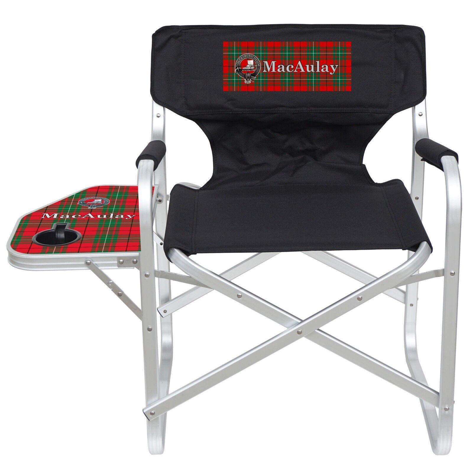 Clan MacAulay Imprinted Heavy Duty Aluminum Frame Dining Height Folding Chair