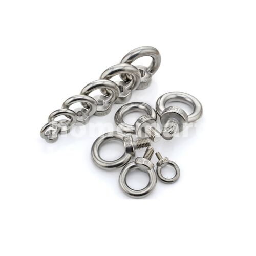 M3 M4 M5 M6 M8 M10 M12 M16 Shouldered Lifting Eye Ring Bolts Nuts 304 Stainless by Unbranded/Generic