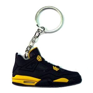NEW AIR JORDAN IV 4 RETRO MILITARY BLUE CEMENT OG SNEAKERS SHOES KEY CHAIN RING