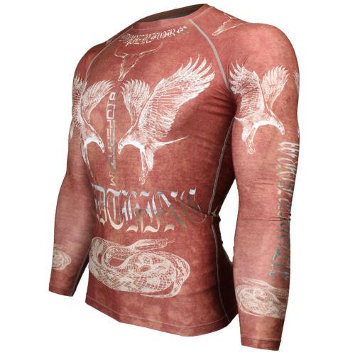 BTOPERFORM MMA Rash guard Skin Tight Compression Under Base layer Gym FX-127R
