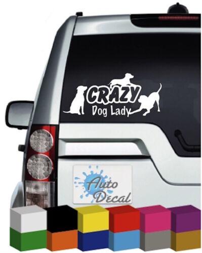 Sticker Graphic Van Crazy Dog Lady Vinyl Car 4x4 Decal