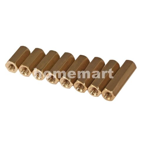 Hex M3 Female-Female Brass copper 3MM cylinder pillars Spacer 4mm-60mm PC Screw