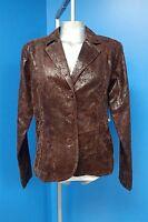 06806 Erin London Textured Brown Office Dress Womens Coat Blazer Jacket M