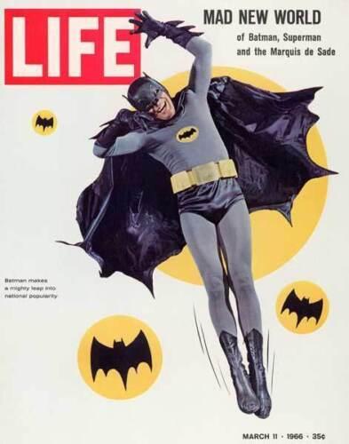 1960s Life magazine BATMAN Adam West cover replica fridge magnet - new!