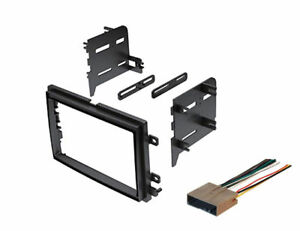 Double-Din-Dash-Kit-For-Aftermarket-Stereo-Radio-Install-with-Wire-Harness