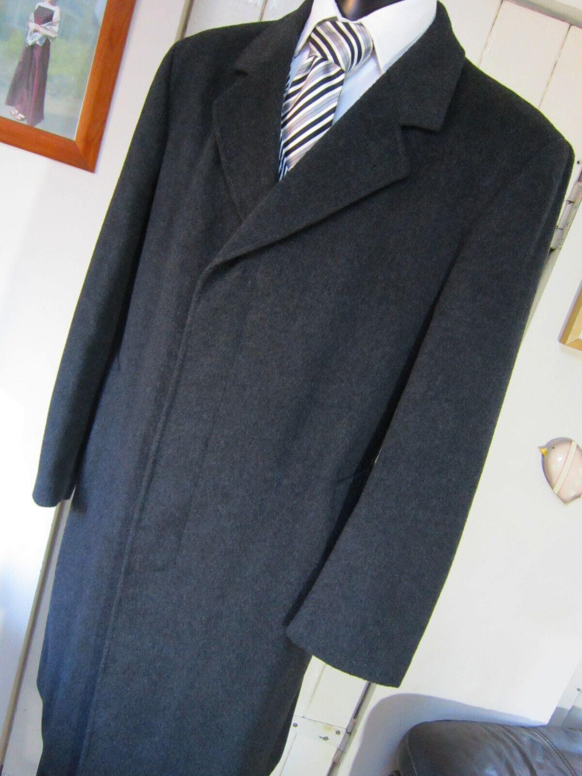 Beatties Charcoal Grey Wool mix Overcoat UK Large 42R Pristine