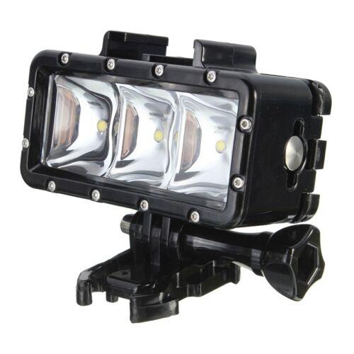 300LM 2.8W 30M bajo el agua Impermeable LED Video Luz Lámpara para GoPro//SJCAM E8Z6