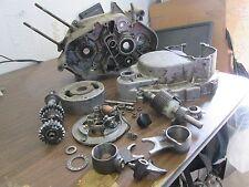 1970 Suzuki TS90 Engine Case Flywheel Magneto Forks Clutch Cover Etc Parts Lot
