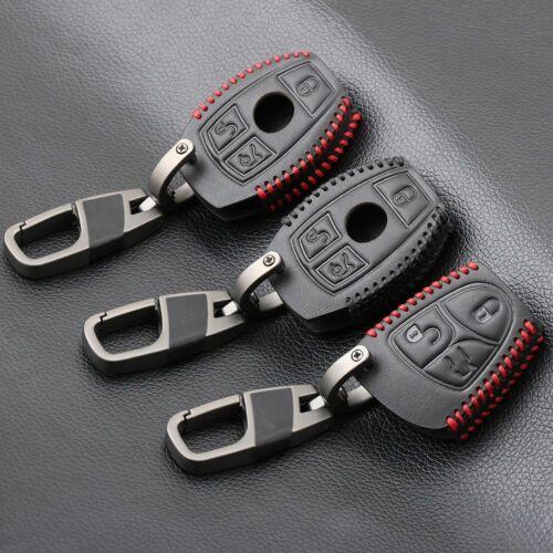 Mercedes Benz Leather Car Key Case Cover for W203 W210 W211 AMG W204 C200 C250 C