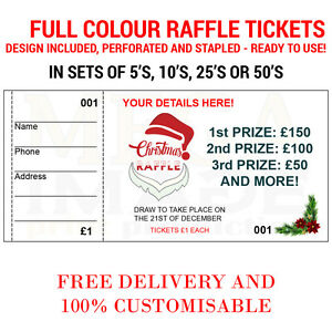 1000 printed personalised raffle prize draw tickets events ebay