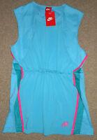Nike  M Women's Bonded  Running Training Tank Top NEW $65  726017 418 Omega Blue