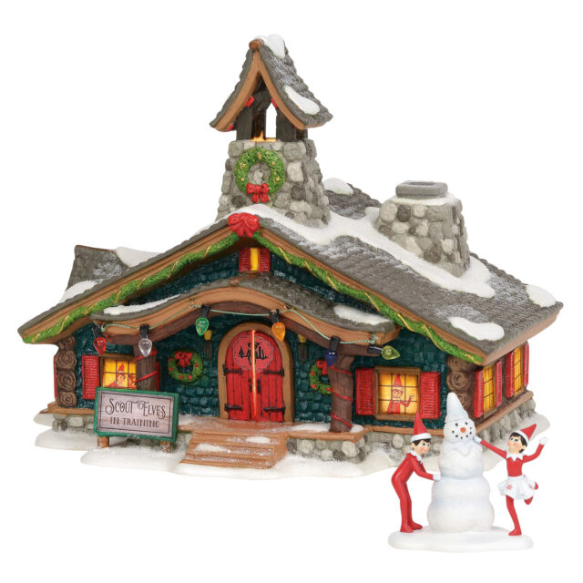 Department 56 Set of 2 North Pole Scout Elves in Training