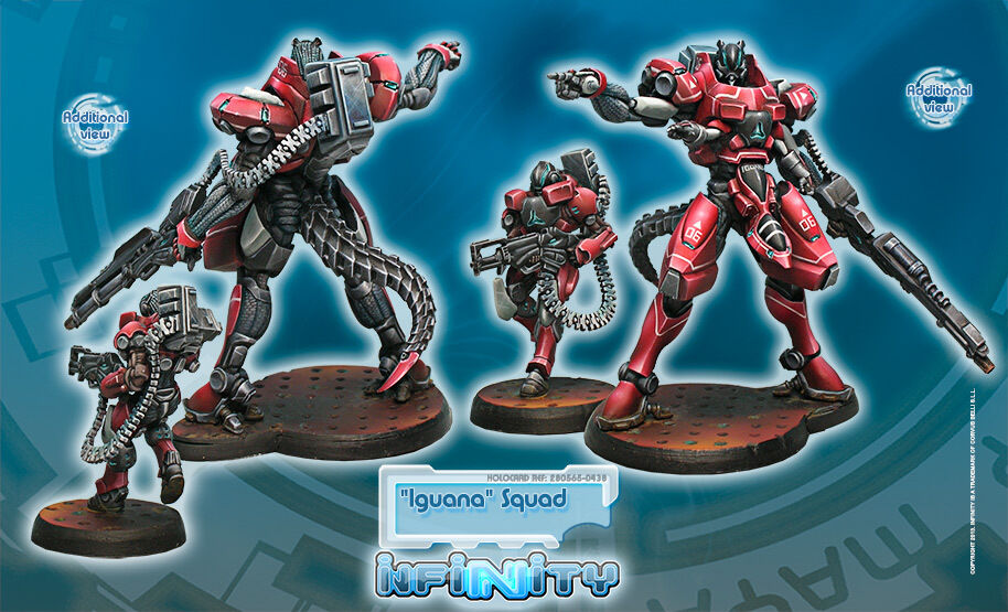 Infinity BNIB Nomads - Iguana Squadron (Nomad TAG) 280565