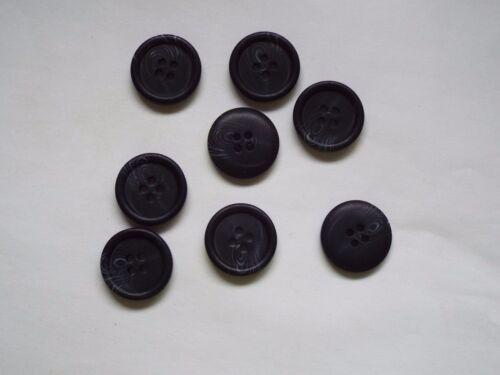 8pc 20mm Matt Black Faux Bone Coat Suit Cardigan Knitwear Button 4935